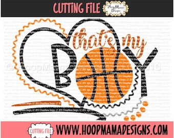Thats My Boy Basketball SVG DFX EPS and png Files for Cutting Machines Cameo or Cricut Cutting FIle For Commercial Use