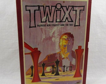 Twixt Board Game, 3M 1962 Bookshelf Games, Vintage Strategy Game, Strategy Board Game, Peg and Link Game
