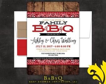 BABY BBQ .  baby shower invitation