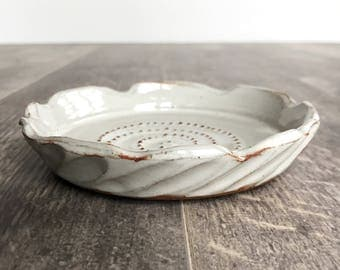ceramic garlic grater // ginger grater // garlic grater // garlic dish // hostess gift - ready to ship