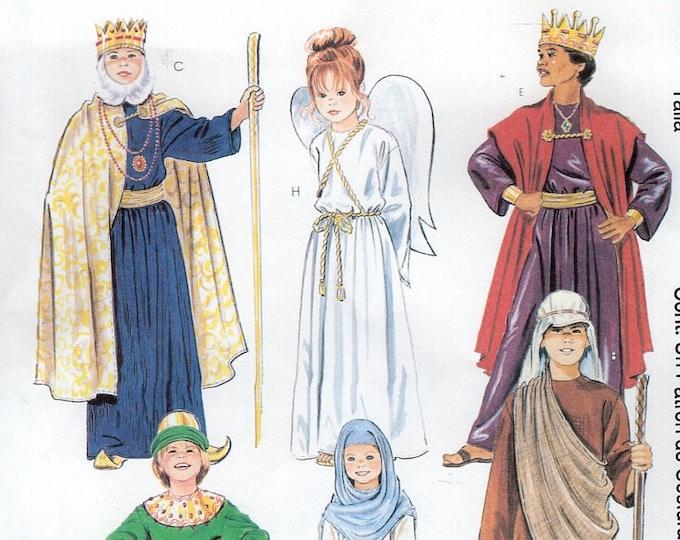 Free Us Ship Sewing Pattern McCall's 2340 Childs Costume Christmas Nativity Pageant Play Mary Joseph Angel Shepherd  New SZ 6/8 12/14