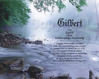 Forest Stream Personalized Name Meaning Print