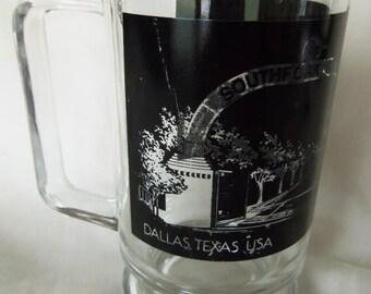 Dallas Southfork Ranch glass mug from 1985