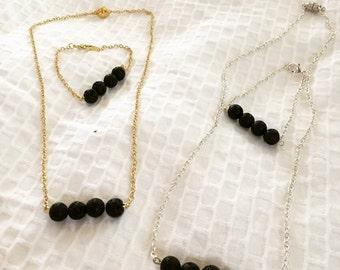 Diffuser Necklace and Bracelet Set