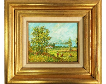 Franklyn Original Landscape Oil Painting Signed w Merill Chase COA 9 x 7