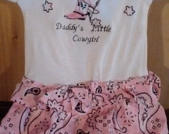 Girls baby onsie cowgirls