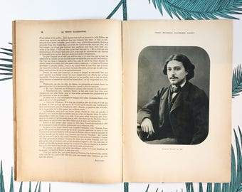 French Literary Journal. Alphonse Daudet. Pages Inconnues. La Petite Illustration. Revue Ancienne. French Novels. Ephemera. Literary Gifts