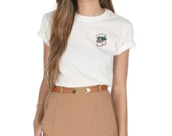 You Grow Girl T-shirt Top Shirt Tee Fashion Funny Vegan Plants Pocket