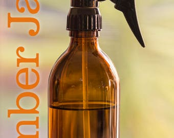 2 x 300ml Amber Glass Syrup Bottle with Trigger Spray