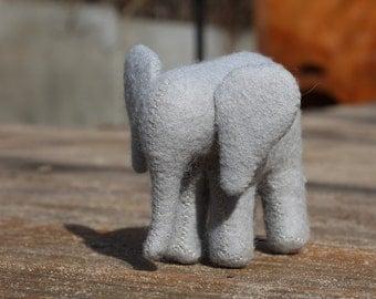 Waldorf Elephant //Little Elephant //Stuffed Animal //Felted Animal //African Animal