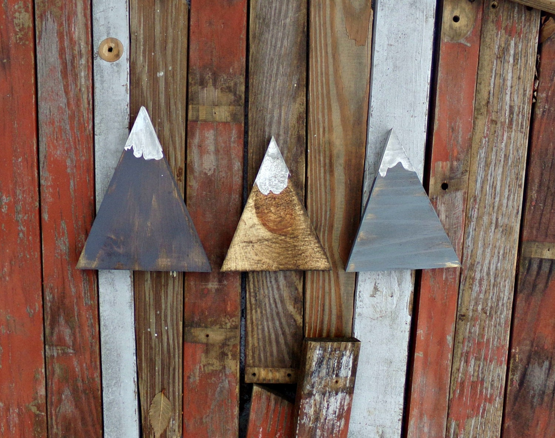 Rustic Mountain Wood Decor Woodland Nursery Decor Rustic