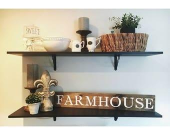 Farmhouse wood sign//stained farmhouse sign//large farmhouse sign//wood sign