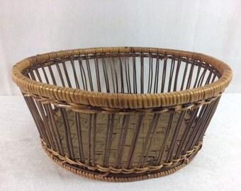 Vintage Wicker Basket Vintage Round Wicker Basket Beautiful Basket Vintage Wicker Storage Basket