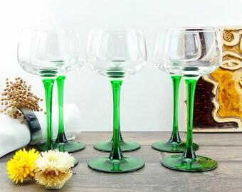 White Wine Glasses - Old Glasses - French Glasses - Old Glasses - French Bistro Glasses - Paris - Bar - Glasses - Brassware - Brasserie
