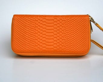 Womens Wallet, Leather Wallet, Yellow Wallet,  Yellow Purse