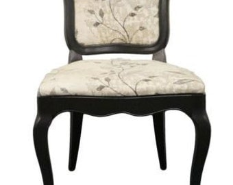 FANCHER French Provincial Black Dining Side Chair