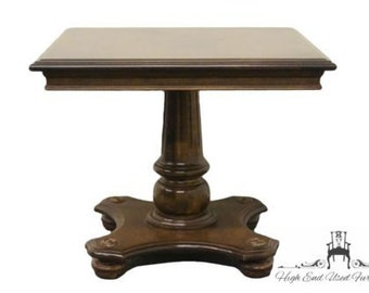 ETHAN ALLEN Classic Manor 20″ Pedestal Bunching End Table 15-8421