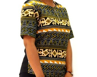 Mini tunic in African fabric