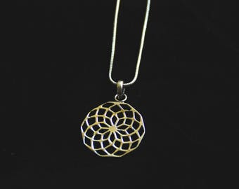 SALES !!!Mandala Bronze Chain-Tribal - Ethnic - Gypsy - Hippie - Ibiza - Boho - Love - Life - Festival- Boom - Burning Man - Sacred Geometry