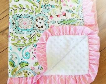 Cotton Ruffle Baby Blanket