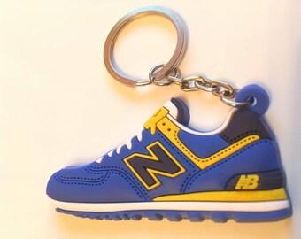 New balance Keychain ML 574 blue yellow keychain