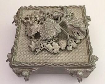 """Kirks Folly, Jewelry Box, Dresser Box, Kirks Folly Unfinished Jewelry Box, Jewelry Storage, Kirks Folly Fairy, Unfinished Storage,3""""x 3""""x 2"""""""