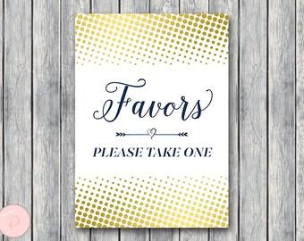 Gold Confetti Favors Sign, Wedding Favor sign, Shower Favors sign, Engagement party favor, Printable sign, Wedding decoration sign TH75