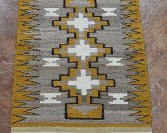 """Navajo Wool Loom Woven Rug  25 1/2"""" x 37 1/2"""""""