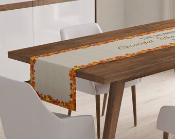 Thanksgiving Table Runner | Thanksgiving Décor | Thanksgiving Table Linen | Thanksgiving Table Topper