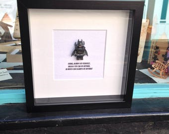 Batman - Always Be Yourself Unless You Can Be Batman Then Always Be Batman Batman DC Superhero Wall Art Box Frame