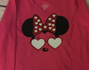 Minnie heart shirt