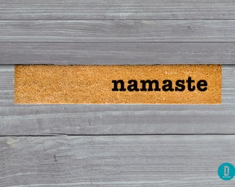 Namaste Skinny Doormat, Namaste Door Mat, Namaste Welcome Mat, Skinny Door Mat, Skinny Doormat, Slim Doormat, Slim Mat, Namaste Mat, Namaste