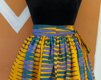 KWAME NKRUMAH PENCIL gathered skirt