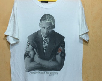 90s Vintage 1996 DENNIS RODMAN Chairman Of The Board Glow In The Hair T-shirt