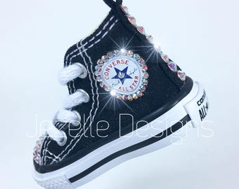 Bling Converse Mini - American Flag Key Chain -Custom Hand Jeweled with Swarovski Crystals -Use as Backpack Bling