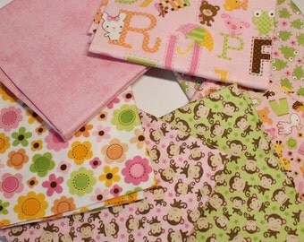 Sweet Baby Girl by Riley Blake Designs 7 Fat Quarter Fabric Bundle. Perfect for a Baby's Nursery