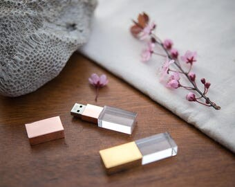 5 Crystal Glass USB Flash Drives