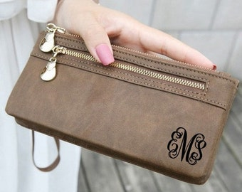 women's wallet, leather wallet, monogram clutch, anniversary gifts, personalized wallet, monogram wallet, monogrammed wallet, womens wallet