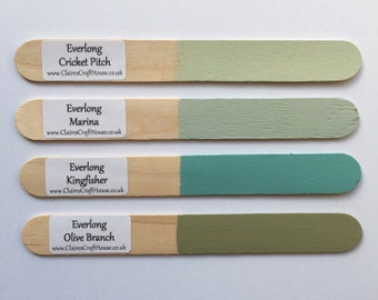 Everlong Chalk Paint - 100ml Small Project Pot - 25 Beautiful Colours - No Waxing / No Prepping - Furniture Upcycling