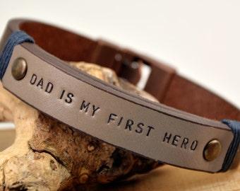 FAST SHIPPING, Men's Custom Bracelet, Mens Leather Bracelet, Husband Bracelet, Custom Men's Leather, For Him Bracelet, Father Days  Bracelet