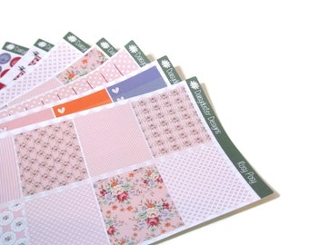 Rosy Posy Planner Sticker Kit for ECLP by Daisyduster Designs