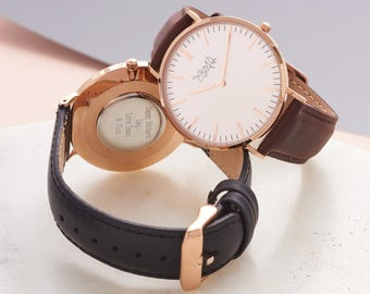 Ladies' Personalised Rose Gold Watch-Personalised Rose Gold Watch for Mum