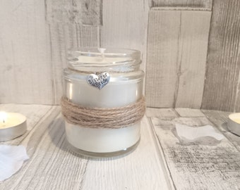 Rustic Sister of the Bride Scented Candle Gift