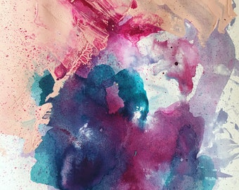 Abstract Mixed Media Painting Colourful Piece
