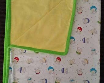 Handmade baby girl blanket