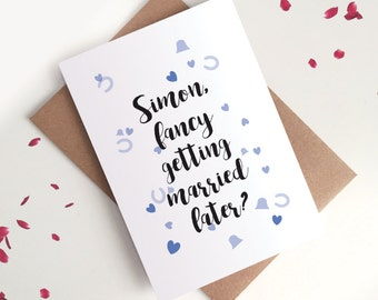 Personalised Husband Wedding Day Card - Future Husband-to-be / On Our Wedding Day  Greetings Card