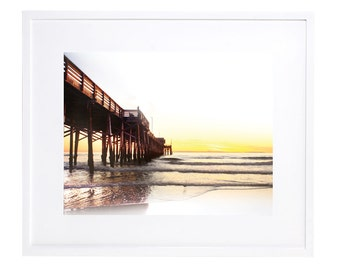 Newport Pier, Beach Photography, Digitable Download, Beach Decor, Ocean Photography, Pier Photograph, Digital Art, Pier