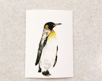 Watercolor Penguin print 5x7