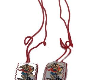 San Miguel Arcangel Escapulario de Hilo-Knotted - Saint Michael Archangel  Scapulary