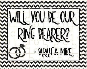 Ring Bearer Puzzle - Will you be our ring bearer?